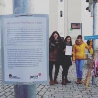 Aktion zum Weltfrauentag 8. März 2018: Die Juso Hochschulgruppe Eichstätt benennt Straßen nach berühmten Frauen um